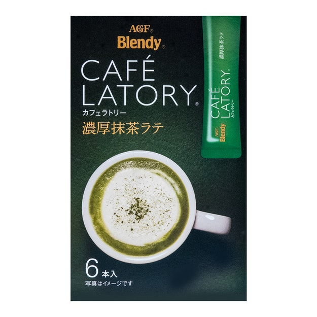 Product Detail - Instant Blendy Stick CAFE LATORY 6 Sticks Matcha Green Tea Latte 78g - image  0