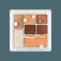 橘朵JUDYDOLL 七色玩具组合眼影盘 #07焦糖牛奶盘 小红书热门色号