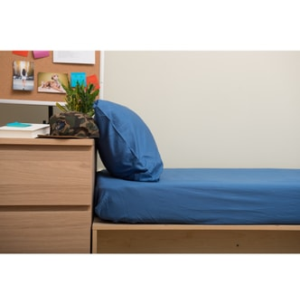 Boxt Teddy [Designed For Students] Fitted Sheet Set Riverside Blue Twin XL 39