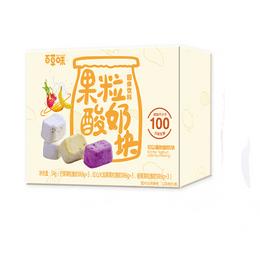 [中国直邮]百草味 BE&CHEERY 酸奶果粒块54g*3包 网红草莓/芒果/黄桃 三合一味道冻干水果干 三种口味 3包装