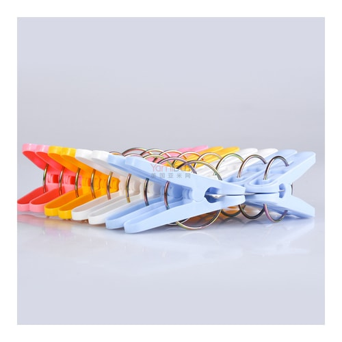 KOKUBO Multi Color Lingerie Apparel Household Pinch Clips 16pcs