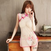 DRAIMIOR seduction cheongsam sheer pink L