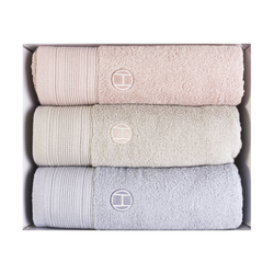 SONGWOL Premium Lightweight Absorbent 100% Cotton Bath Towel 3 piece set 50cmx100cm