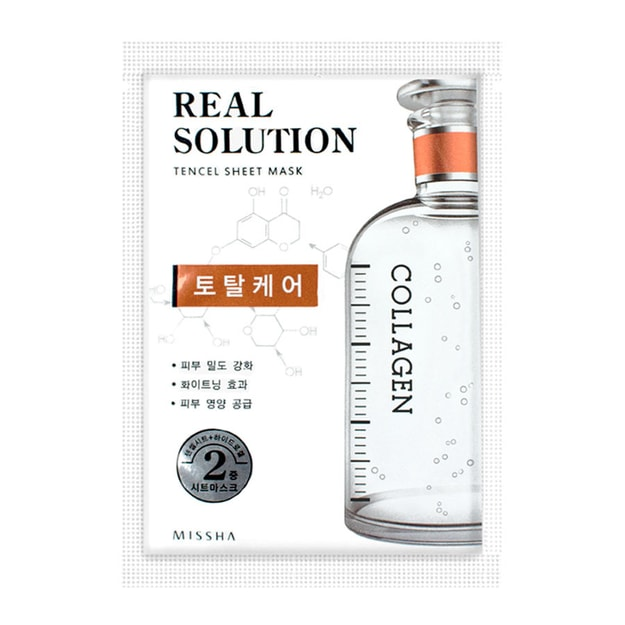 Product Detail - MISSHA Collagen Total Care Real Solution Tencel Sheet Mask  1 Sheet - image 0