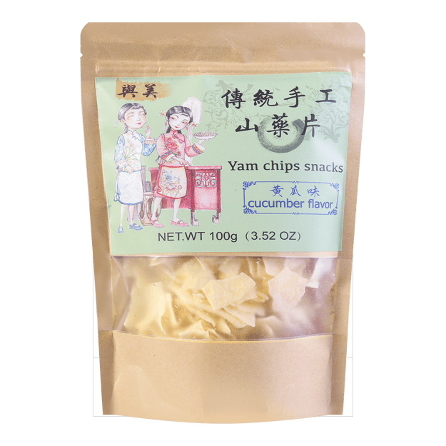 Product Detail - YUMEI Yam Chips Snacks Cucumber Flavor 100g - image 0