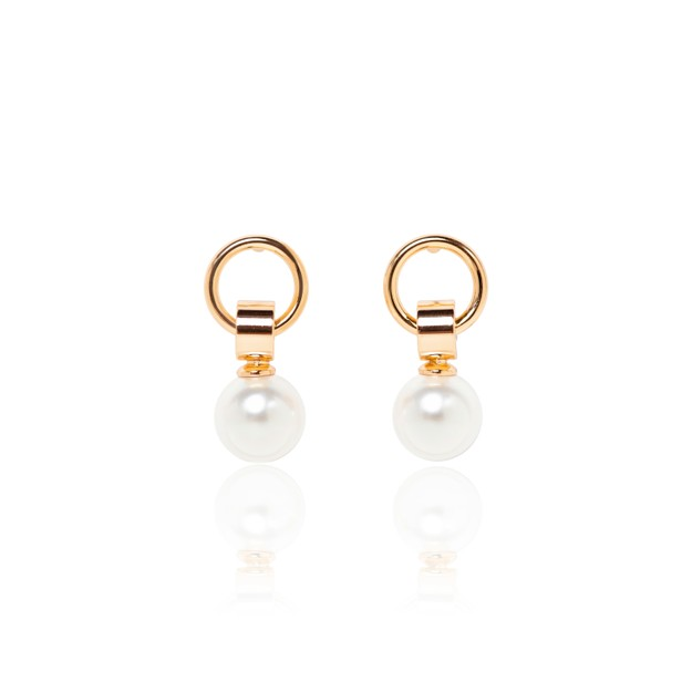 Product Detail - ARSIS golden stud earrings with pearl 1 pair - image 0