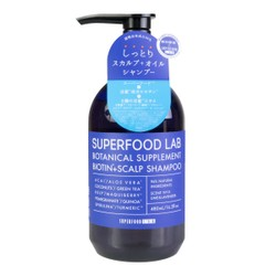 SUPERFOOD LAB Botanical Supplement Biotin Scalp Shampoo 480ml