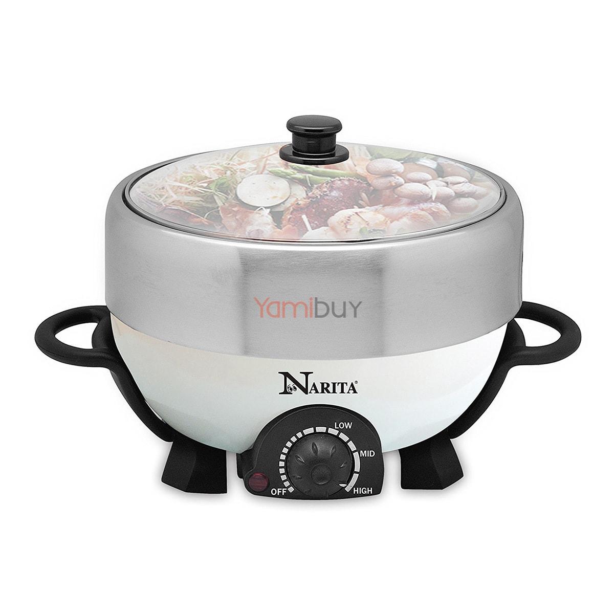 Yamibuy.com:Customer reviews:Narita Multi-function Hot Pot With Nonstick Grill Pan 4L NEC-402W (1 Year Mfg Warranty)