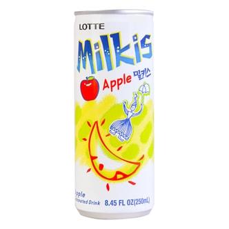 韩国LOTTE乐天 牛奶苏打水碳酸饮料 苹果味 250ml