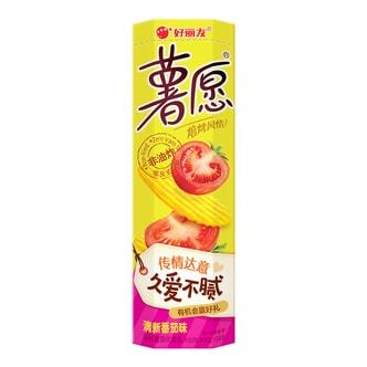 韩国ORION好丽友 非油炸薯愿薯片 清新番茄味 2包入 104g
