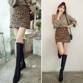 SSUMPART High Rise Leopard Mini Skirt #Brown S(25-26)