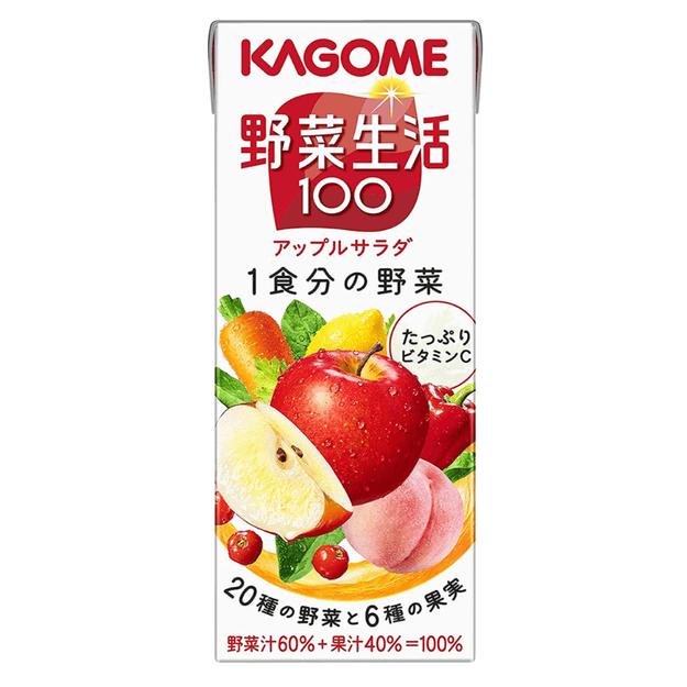 商品详情 - DHL直发【日本直邮】日本KAGOME 苹果色拉果汁 野菜生活 20种蔬菜+6种水果 200ml - image  0