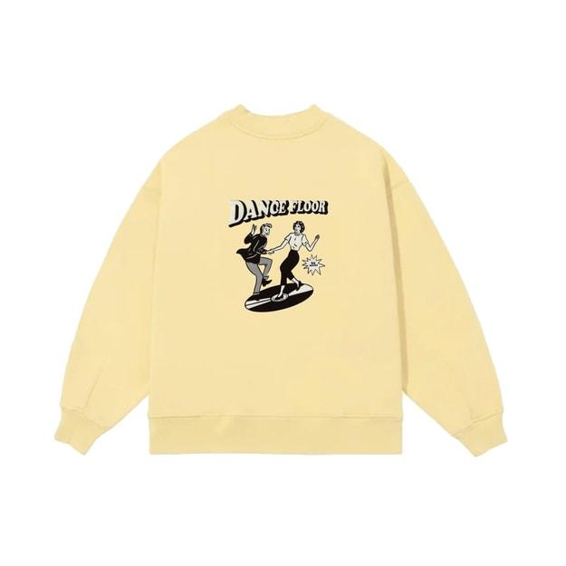 商品详情 - PROD独立设计潮BF风双人舞印花圆领卫衣 黄色 2 码 - image  0