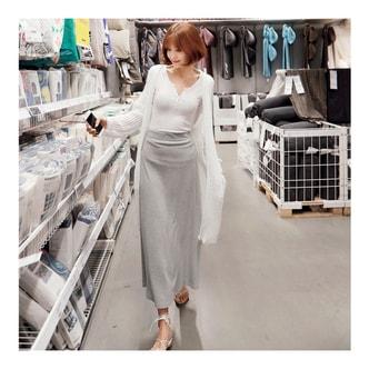 韩国MAGZERO [新品] 飘逸长裙 #灰色 均码One Size(S-M)