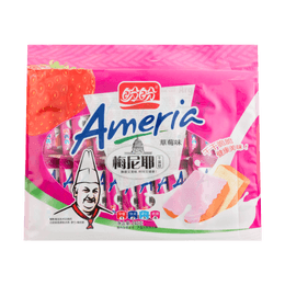 PanPan Ameria Dried Pastry Strawberry Flavor 240g