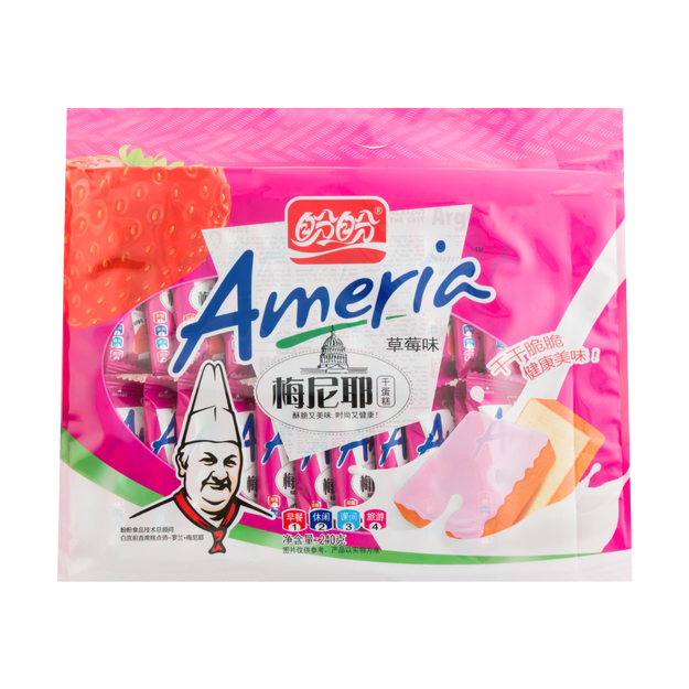 Product Detail - PanPan Ameria Dried Pastry Strawberry Flavor 240g - image 0