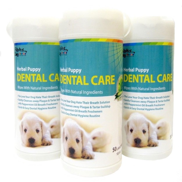 商品详情 - ALPHA DOG SERIES 宠物牙齿护理湿巾 三件套 - image  0