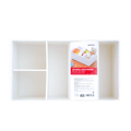 Miniso Relief Patterns Divided Organizer #White