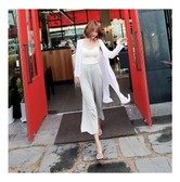 MAGZERO [Limited Quantity Sale] Summer Essential Slit Long Cardigan One Size(S-M)