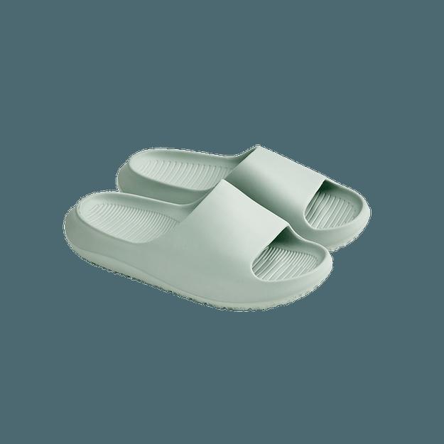 商品详情 - 【美仓发货 5-7日达】 网易严选 室内外两穿船型加厚软弹拖鞋 雾蓝色 L(39-40) - image  0