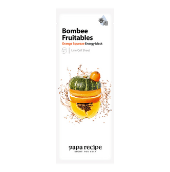 PAPA RECIPE Bombee Fruitables Orange Squeeze Energy Mask 1 sheet