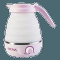 美国AROMA 可折叠便携旅行双电压电热水壶 0.6L #粉红色 AWK-080MVP