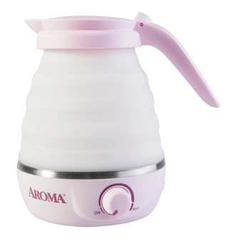 AROMA Collapsible Portable Water Kettle with Dual Voltage 0.6L Pink AWK-080MVP AROMA Collapsible Portable Water Kettle with Dual Voltage 0.6L Pink AWK-080MVP