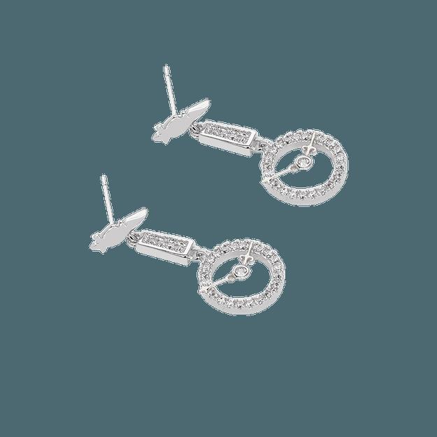 商品详情 - 纽约 IHUSH 俏物悄语 爱丽丝系列怀表耳环耳钉 2件入 - image  0