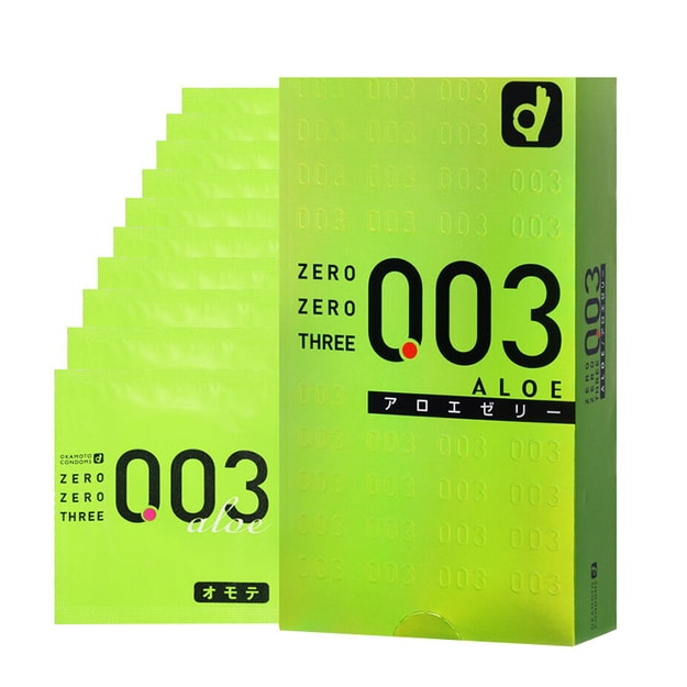 Product Detail - OKAMOTO 003 Very Thin Condoms Aloe 10pcs - image 0