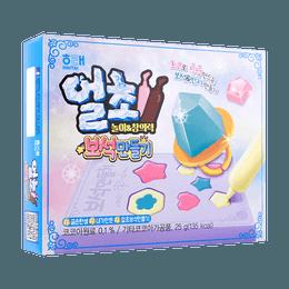 【小朋友超爱】韩国HAITAI海太 冰凉钻石巧克力 ( 内含制作钻石糖果模具) 包装随机发货 25g