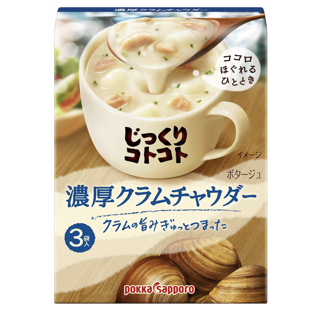 Product Detail - POKKA SAPPORO Creamy Clam Instant Soup 3pc - image 0
