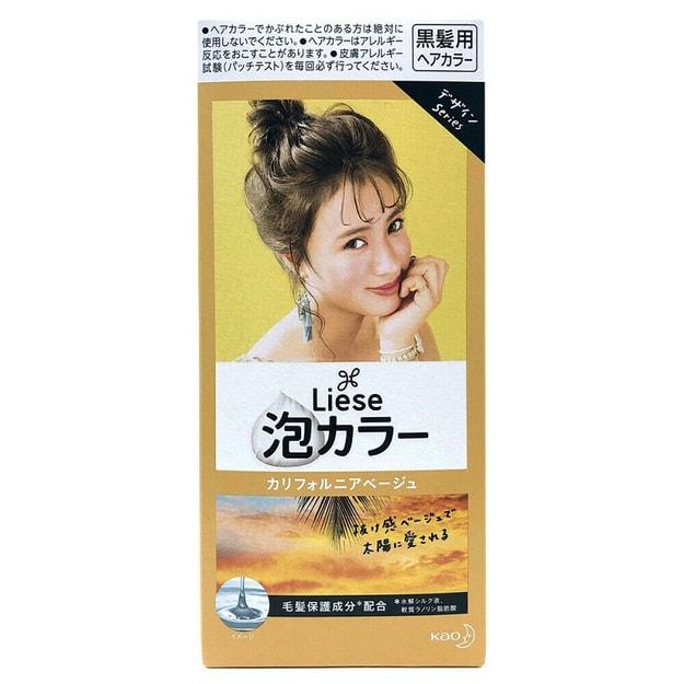 商品详情 - 日本KAO花王 LIESE PRETTIA 泡沫染发剂 #加利福尼亚米色 108ml - image  0