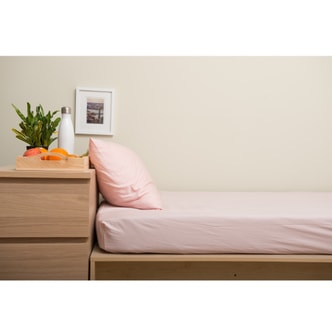 Boxt Teddy [Designed For Students] Fitted Sheet Set Rose Quartz Twin XL 39