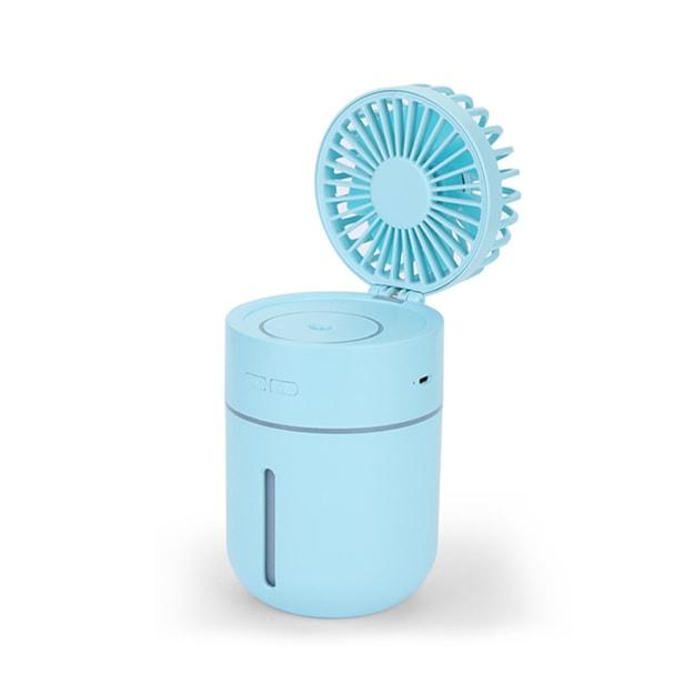 商品详情 - 中国直邮  多功能可移动式桌面迷你USB充电补水加湿喷雾风扇  蓝色  1件 - image  0