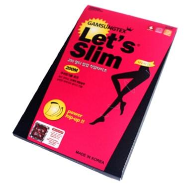 韩国GAMSUNGTEX LET'S SLIM塑臀拉绒压力瘦腿袜 #200M 一件入