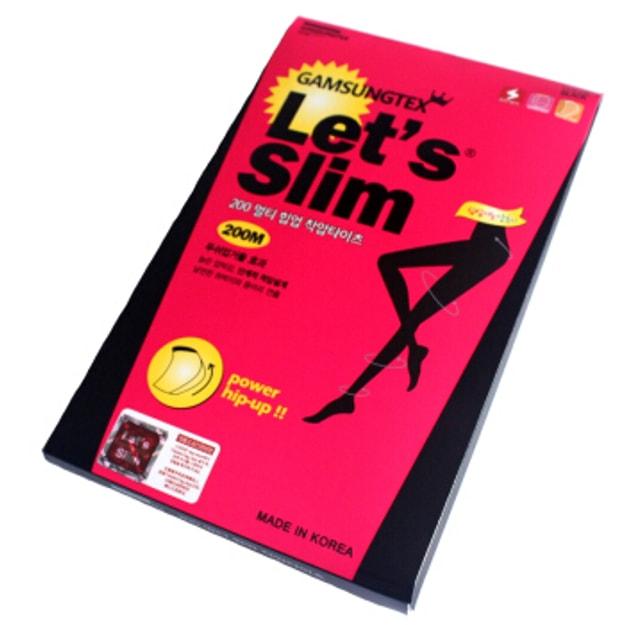商品详情 - 韩国GAMSUNGTEX LET\'S SLIM塑臀拉绒压力瘦腿袜 #200M 一件入 - image  0