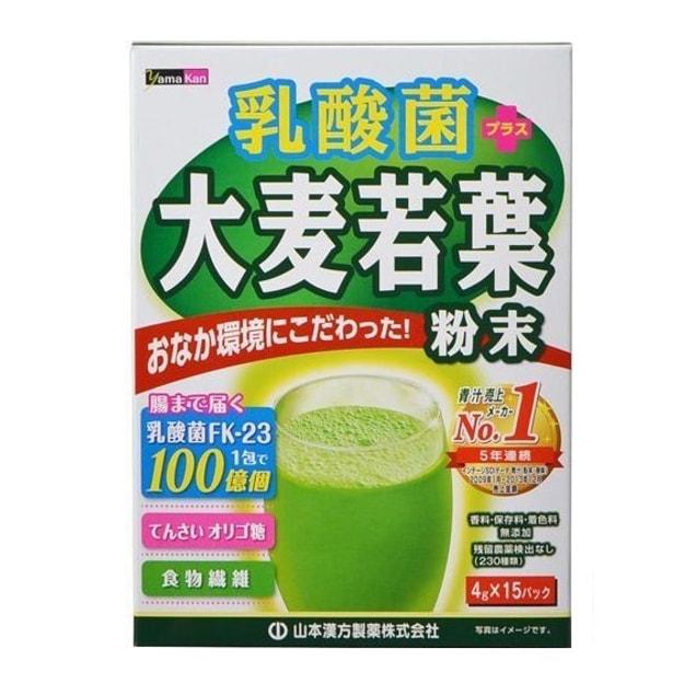 商品详情 - 日本YAMAMOTO山本汉方 乳酸菌大麦若叶青汁粉末 30X4g - image  0