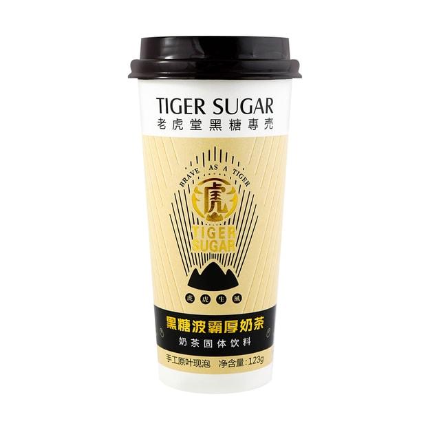 商品详情 - 老虎堂 黑糖黑波霸后奶茶 123克 - image  0