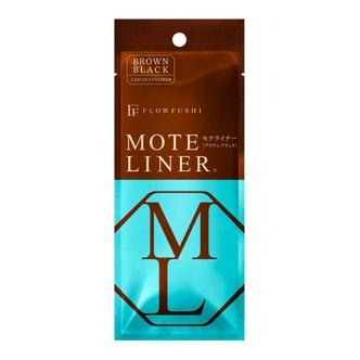 日本FLOWFUSHI MOTE LINER 防水极细眼线液笔 #黑棕色 0.55ml COSME大赏第一位 熊野职人大和匠