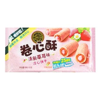 台湾徐福记 卷心酥注心饼干 清新草莓味 105g