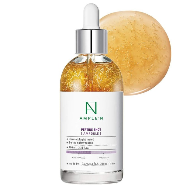 Product Detail - AMPLE:N Peptide Shot Ampoule Ultimate Anti Aging&Anti Wrinkle Facial Firming Serum 100ml - image  0