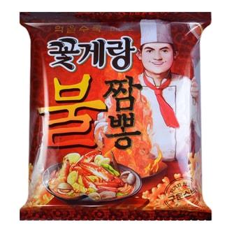 韩国BINGGRAE宾格瑞 海鲜味脆片辣味蟹酥脆片 膨化食品 143g