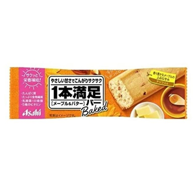 商品详情 - 【日本直邮】DHL直邮3-5天到 朝日ASAHI 一本满足 低卡代餐棒 2020新品 黄油枫糖味 - image  0