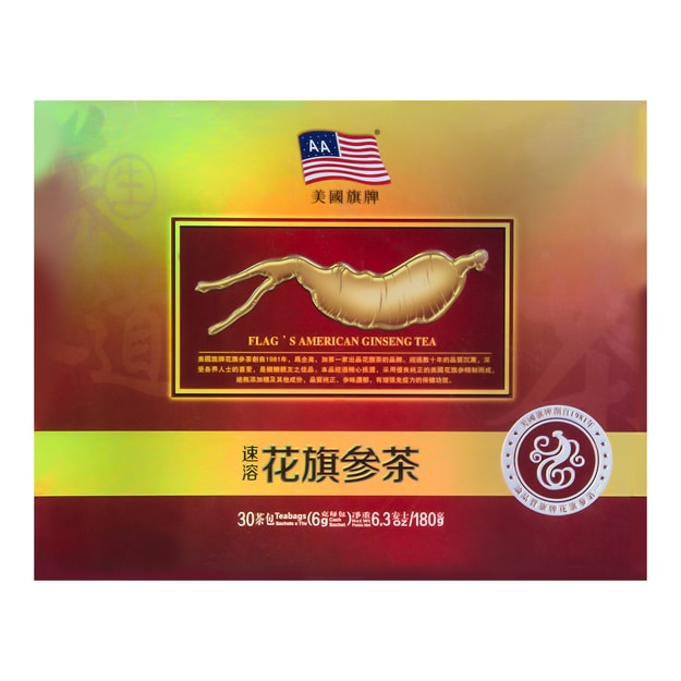 FLAGS Instant Ginseng Tea 6gx30 Bags