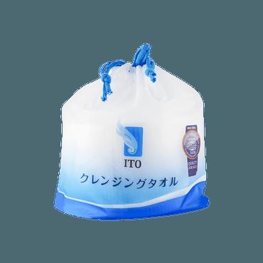 日本ITO 珍珠纹耐用不掉屑 日本美容院专用柔肤洁面巾 80枚