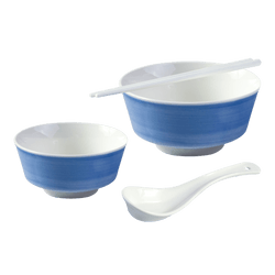 HEY BUNNY Easy Cleaning Ceramics Bowl Dinnerware Set 4 Piece Set Microwave Safe