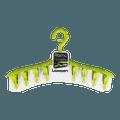 日本KOKUBO小久保 多功能内衣衣服晾晒衣架 #绿色 附带8个衣夹