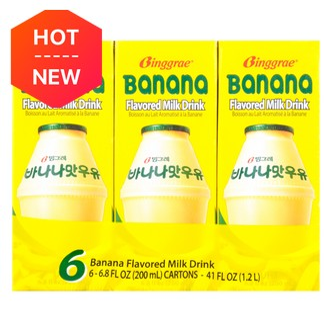 韩国BINGGRAE宾格瑞 香蕉牛奶 6盒装
