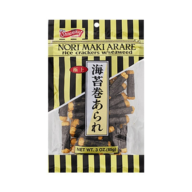 SHIRAKIKU Japanese Traditional Seaweed Rice Cracker 85g