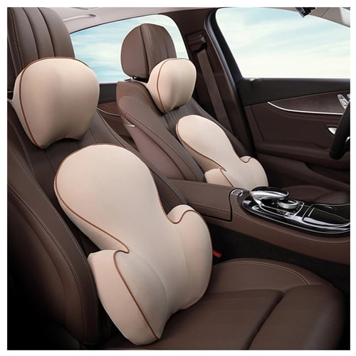 LORDUPHOLD Memory Cotton Car Seat Neck Pillow Massage Back Lumbar Cushion Support For All Model